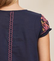 Odd Molly - Mariah S/S Blouse - DARK BLUE