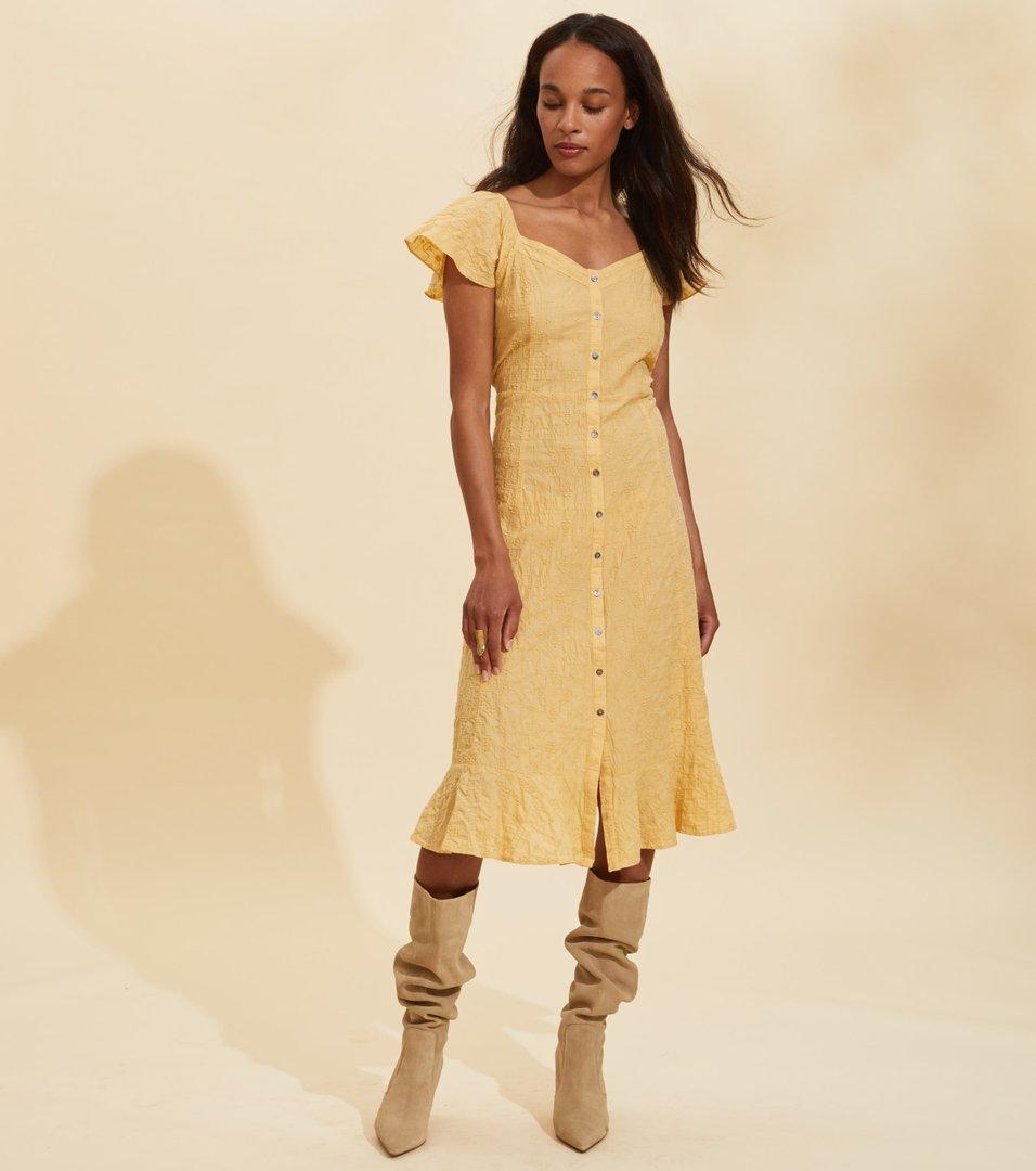 odd molly golden dress