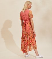 Odd Molly - Positano Long Dress - SPICED CORAL