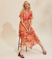 Odd Molly  - Positano Long Dress - SPICED CORAL