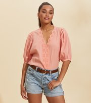 Odd Molly  - Portofino Blouse - PERFECT PAPAYA