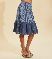 Odd Molly  - Amalfi Skirt - HORIZON BLUE