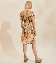 Odd Molly - Positano Smock Dress - GOLDEN BISCOTTI
