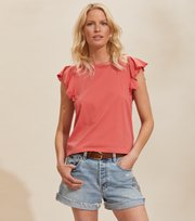 Odd Molly - Naples Top - SPICED CORAL