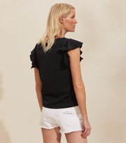 Odd Molly - Naples Top - ALMOST BLACK