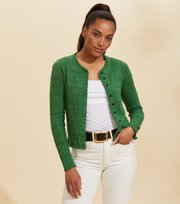 Odd Molly - Lucky Charm Cardigan - GREEN JADE