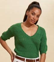 Odd Molly - Lucky Charm Sweater - GREEN JADE