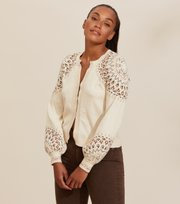 Odd Molly - Stardust Cardigan - LIGHT PORCELAIN