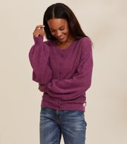 Odd Molly - Your Instinct Cardigan - DARK FUCHSIA