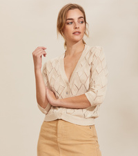 Curious Short Sleeve Cardigan