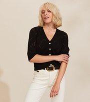 Odd Molly - Curious Short Sleeve Cardigan - BLACK