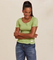 Odd Molly - Alluring Smock T-shirt - GARDEN GREEN