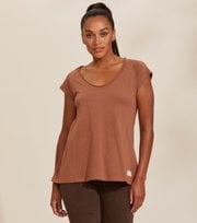 Odd Molly - Power Sleeve T-Shirt - COCONUT BROWN