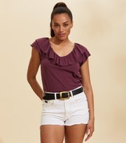 Odd Molly - Frill Up Top - DARK GRAPE