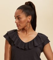Odd Molly - Frill Up Top - ALMOST BLACK