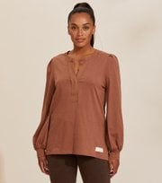 Odd Molly - Power Sleeve Top - COCONUT BROWN