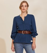 Odd Molly - Power Sleeve Top - BLUE ATMOSPHERE