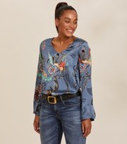 Odd Molly - Still Smiling Blouse - HORIZON BLUE