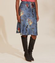 Odd Molly - Still Smiling Skirt - HORIZON BLUE