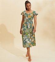 Odd Molly  - Run With The Sun Dress - BOTTLE GREEN