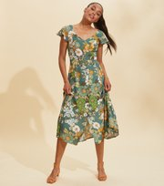 Odd Molly - Run With The Sun Kleid - BOTTLE GREEN