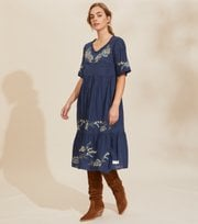 Odd Molly - Free The Flower Dress - BLUE ATMOSPHERE
