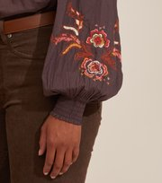 Odd Molly - Free The Flower Blouse - BROWN ASH