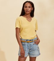Odd Molly - Leia S/S Top - VINTAGE YELLOW
