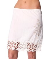 Odd Molly - bystorm slip skirt - CHALK