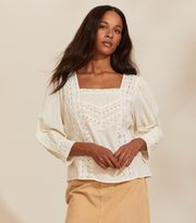 Odd Molly - Laura Blouse - LIGHT PORCELAIN