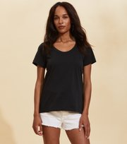 Odd Molly - Juliette S/S Top - ALMOST BLACK
