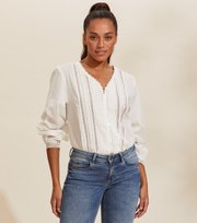 Odd Molly - Rachelle Blouse - LIGHT CHALK