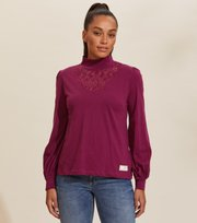 Odd Molly - Camille Turtle L/S Top - BLACKBERRY BLISS