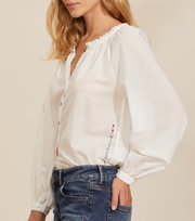 Odd Molly - Anna Blouse - LIGHT CHALK