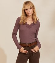 Odd Molly - Emma L/S Top - MISTY GRAPE