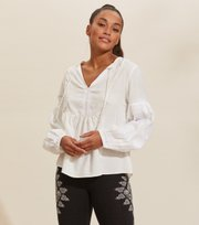 Odd Molly - Eloise Blouse - LIGHT CHALK