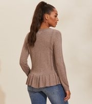 Odd Molly - Aurora Sweater - BROWN OAK