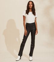 Odd Molly - Victoria Leather Pants - ALMOST BLACK