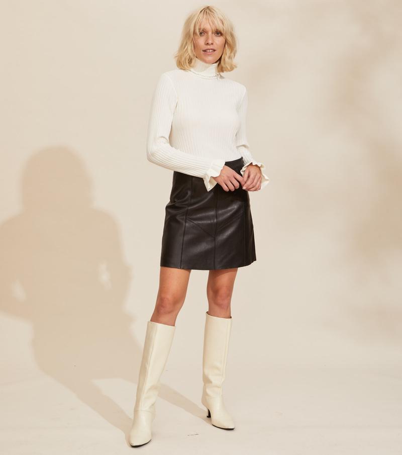 Victoria Leather Skirt