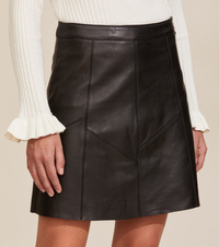 Victoria Leather Skirt