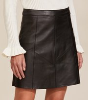 Odd Molly  - Victoria Leather Skirt - ALMOST BLACK