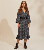 Odd Molly - Esmée Long Dress - ASPHALT