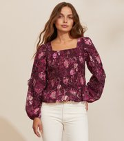 Odd Molly - Doreen Smock Blouse - DARK PURPLE
