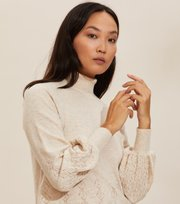 Odd Molly - Simone Turtleneck - LIGHT PORCELAIN
