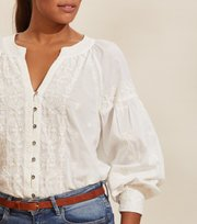 Odd Molly - Charlotte Blouse - LIGHT CHALK