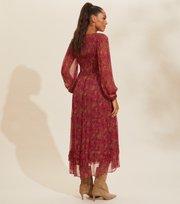Odd Molly - Claudette Kleid - BAKED BURGUNDY