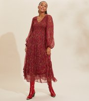 Odd Molly - Claudette Dress - BAKED BURGUNDY