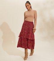 Odd Molly - Claudette Skirt - BAKED BURGUNDY