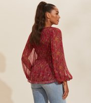 Odd Molly - Claudette Blouse - BAKED BURGUNDY