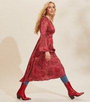 Odd Molly - Amélie Long Dress - RED ELDERBERRY